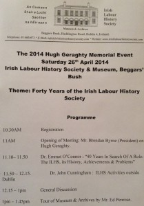 hugh geraghty 2014 event