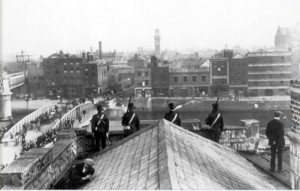 Irish Citizen Army Members on Roof of Liberty Hall