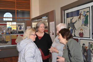 Left to Right: Mary Enright, Mary Hunter, Tess Flynn and Bernie Murphy at the launch of the Exhibition. The Tapestry will be on display until March 26th. Admission Free.