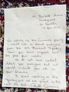Letter from Ruth Cummins