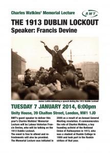 Charles Watkins' Memorial Meeting leaflet