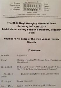 hugh geraghty 2014 event