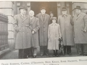 Rosie outside Liberty Hall with ITGWU veterans at her retirement